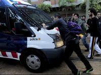 Masurile de austeritate au scos in strada sute de spanioli la Barcelona