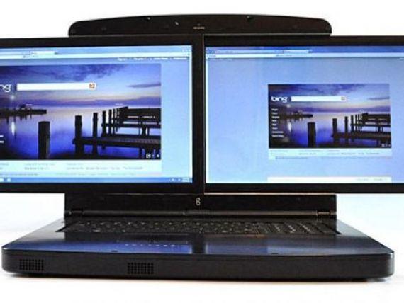 Laptopul cu doua ecrane poate fi comandat. Vezi cat costa