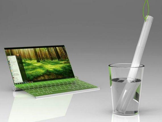 CONCEPT. Laptopul care se incarca din apa, nu de la priza