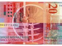 Francul elvetian a atins astazi un nivel record fata de dolar