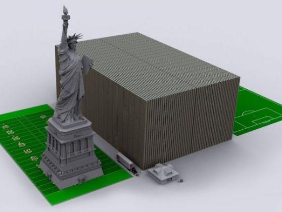 Exercitiu de imaginatie: datoria SUA, cat Statuia Libertatii sau National Arena. Vezi LIVE cum creste