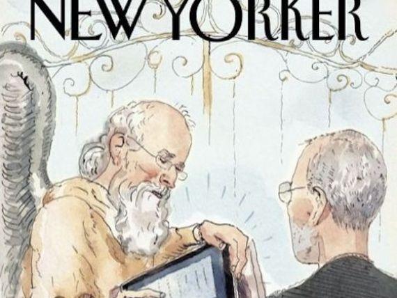 iGod in stil Apple. Cu iPad-ul la portile Raiului, asa va arata coperta publicatiei The New Yorker FOTO