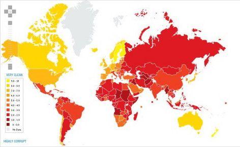 Harta Coruptiei In Lume Romania Pe Acelasi Loc Ca Si Cuba