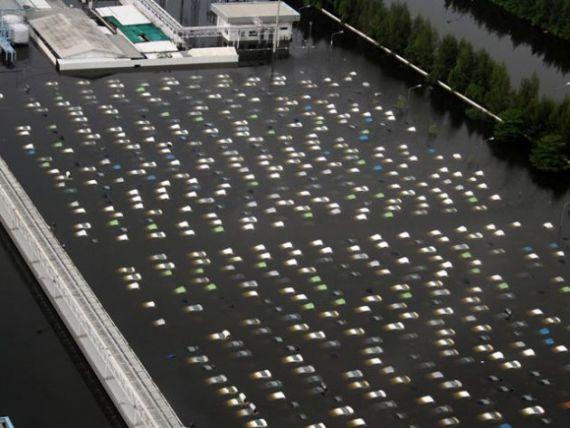 Inundatii in Thailanda: masini Honda, in valoare de 12 mil. de dolari, sub ape FOTO