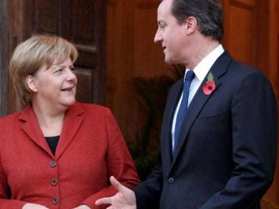 David Cameron, suparat ca nemtii nu sprijina economia europeana:  De ce Germania nu face mai mult pentru zona euro?