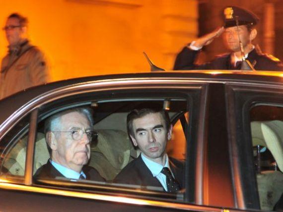 Pleaca  Il Cavaliere , vine  Il Cardinale . Fostul comisar european Mario Monti este noul premier al Italiei