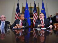 Liderii UE s-au intalnit cu Obama la Casa Alba. Criza din Europa inspaimanta intreaga planeta