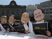 """Momente ridicole si situatii inedite pentru liderii europeni in 2011. """"Bufonul obscen"""" si """"Clovnul de la Elysee"""", campionii gafelor"""