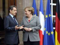 Merkel si Sarkozy reiau discutiile privind salvarea zonei euro. Prima intalnire din acest an va avea loc saptamana viitoare