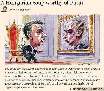 Financial Times: Regimul autoritar al lui Viktor Orban in Ungaria, demn de Rusia lui Putin