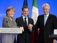 Merkel si Sarkozy merg la Roma ca sa ia pulsul economiei. Premierul italian asigura ca tara sa nu se va prabusi