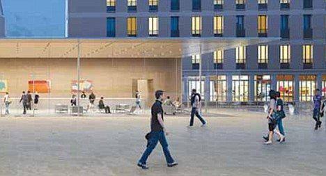 Apple construieste in Franta un magazin aproape invizibil GALERIE FOTO
