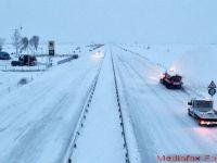 Autostrada Soarelui a fost inchisa. Cod galben de ninsori si viscol+ cod portocaliu de ger