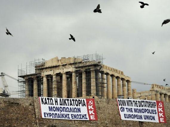 Grecia isi striga furia impotriva Europei:  Jos dictatura monopolului UE