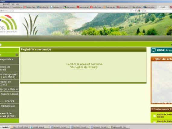 Ministerul Agriculturii da peste 100 mil. lei pe un site de informare a fermierilor, aflat inca in constructie