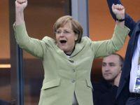 Germania a strivit Grecia. Angela Merkel asa cum nu ai vazut-o niciodata. Imaginile care au facut inconjurul lumii FOTO