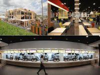 Cum se pregatesc englezii de JO: construiesc cel mai mare McDonald's din lume. Aflat la cativa metri de stadionul olimpic, restaurantul va fi inaugurat pe 28 iulie GALERIE FOTO