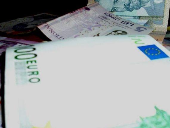 Leul castiga teren in fata monedei unice. BNR publica un curs de 4,4885 lei/euro