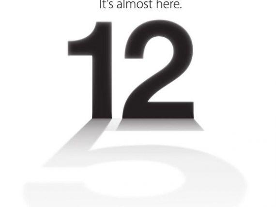 iPhone 5 ar putea fi lansat pe 12 septembrie. Ce invitatie a trimis Apple