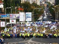 Cartel Alfa scoate sindicalistii in strada, nemultumiti de privatizarea companiilor strategice si de salariile mici