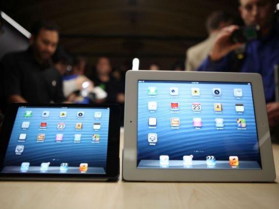 iPad Mini nemultumeste investitorii. Dupa lansare, actiunile Apple si-au continuat caderea, la un nou minim