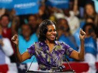 Michelle Obama. Femeia care-l depaseste pe cel mai puternic om al Planetei in popularitate. Asul din maneca presedintelui