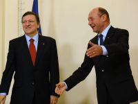 Presedintele Basescu a discutat, la Bruxelles, cu Van Rompuy si Barroso despre bugetul UE 2014-2020