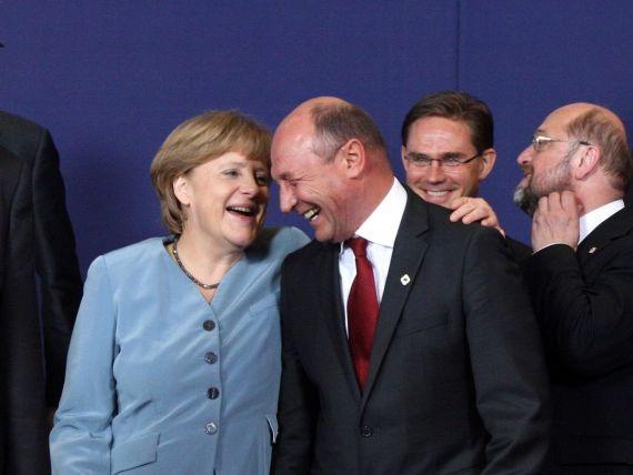 Negocieri dure la Bruxelles pe bugetul european. Merkel, sceptica in privinta unui acord. Basescu, mai optimist