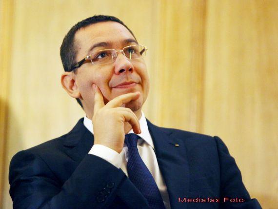 WSJ: Ponta admite ca a facut, in vara, greseli care au dus la diminuarea investitiilor straine si la scaderi ale economiei