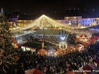 Atmosfera vieneza la Sibiu. S-a deschis Tragul de Craciun din centrul orasului