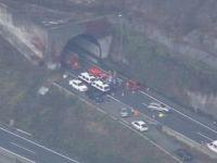 Un tunel rutier s-a prabusit in Japonia