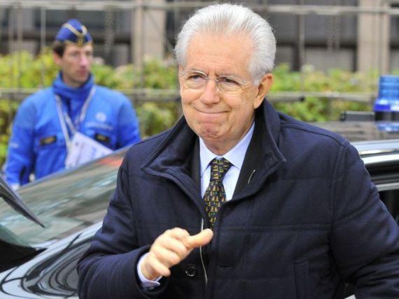 Premierul demisionar Mario Monti sustine ca Italia a invins criza, fara ajutor extern