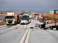 Trafic blocat pe DN 7 in urma unui accident soldat cu 7 raniti