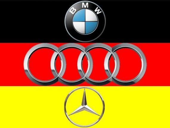 Audi, BMW si Mercedes, vanzari de 200.000.000.000 de euro in 2012. Care dintre ele este stapana inelelor?