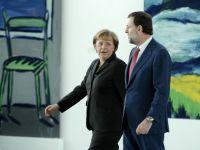 "Neintelegeri la nivel inalt. Merkel il contrazice pe Rajoy: ""Natiunile puternice din zona euro nu trebuie sa sustina economia regiunii"""