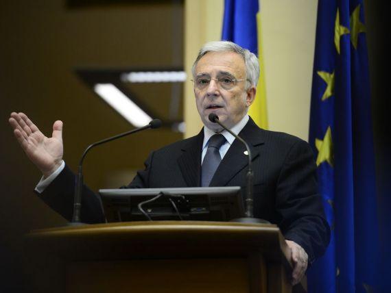 Mugur Isarescu: Cursul de schimb se situeaza intr-o zona care nu ridica probleme