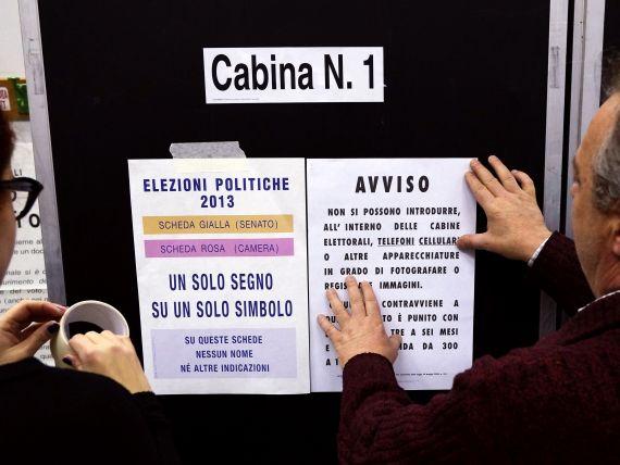 Italia voteaza in incertitudine  prioritatile economice pentru urmatorii 4 ani. Vot crucial pentru a treia economie a zonei euro