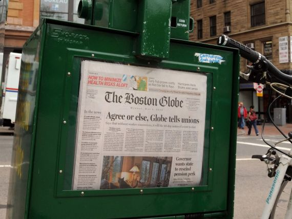 Grupul american New York Times, ofertat cu 100 milioane de dolari pentru publicatia Boston Globe