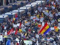 45 de persoane arestate la Madrid, in urma manifestatiilor impotriva austeritatii