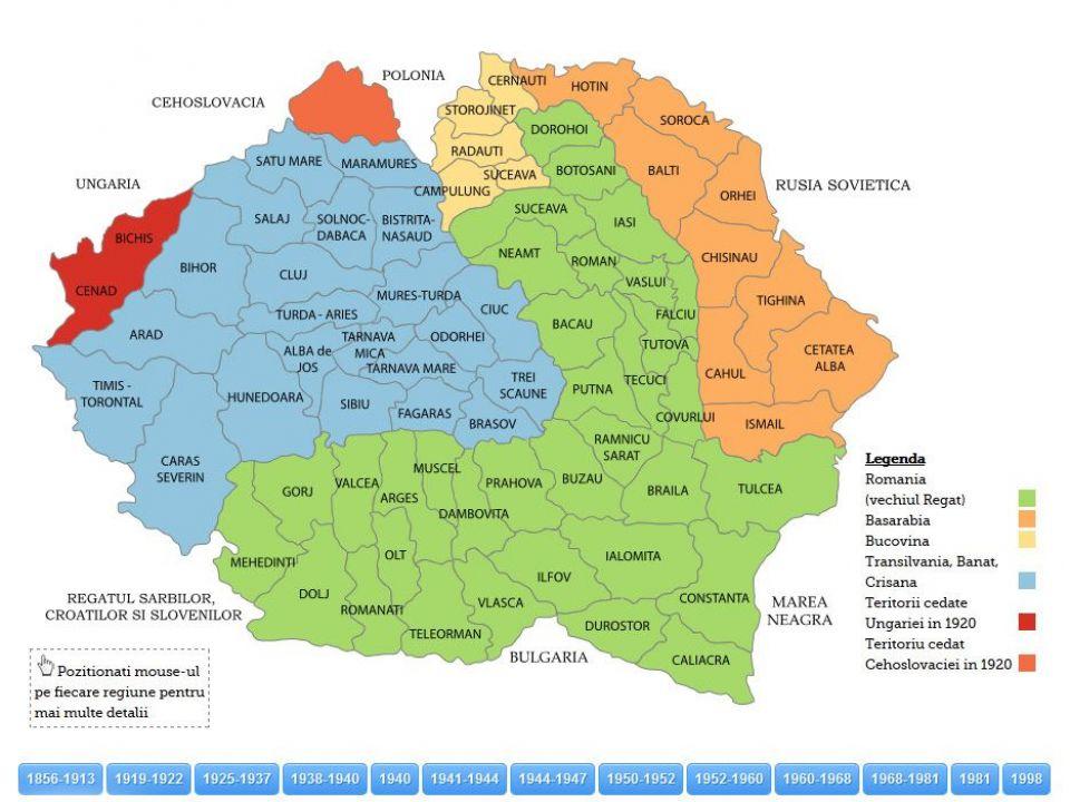 Harta Istorica Romania