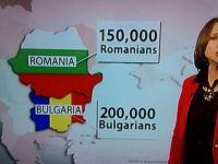 BBC prezinta harta Romaniei in culorile steagului bulgar, in timpul unei dezbateri despre imigratie