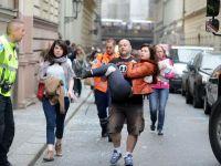 Explozie puternica in centrul istoric din Praga, soldata cu 40 de raniti