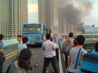 Peste 40 de morti dupa ce un autobuz a luat foc, in China