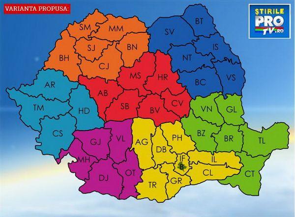 Reinventeaza Romania Deseneaza Noua Harta A Tarii Si Alege Unde
