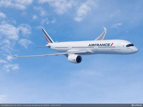 Air France-KLM comanda 25 de avioane A350, cel mai nou model lansat de Airbus, in valoare de peste 7 mld. dolari