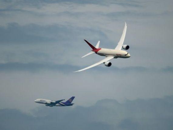 Boeing si Airbus au castigat comenzi de 129 miliarde de dolari la Salonul Aeronautic de la Paris, dublu fata de anul trecut