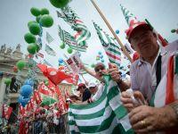 Zeci de mii de oameni au protestat la Roma, pentru crearea de locuri de munca