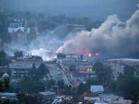 Bilantul victimelor exploziei trenului cu petrol din Quebec ajunge la 13 morti