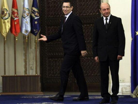 Intalnire Basescu-Ponta la Cotroceni. Temele de discutie: acordul cu FMI si numirea noului ministru al Transporturilor
