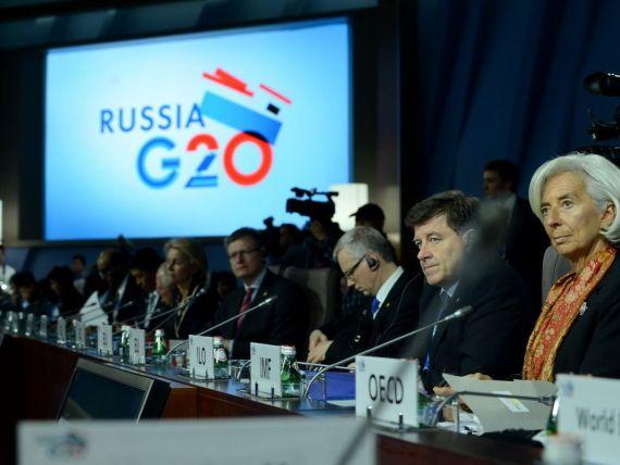 Ministrii de Finante ai tarilor G20: Vom sprijini redresarea economica prin masuri care sa nu provoace  unde de soc